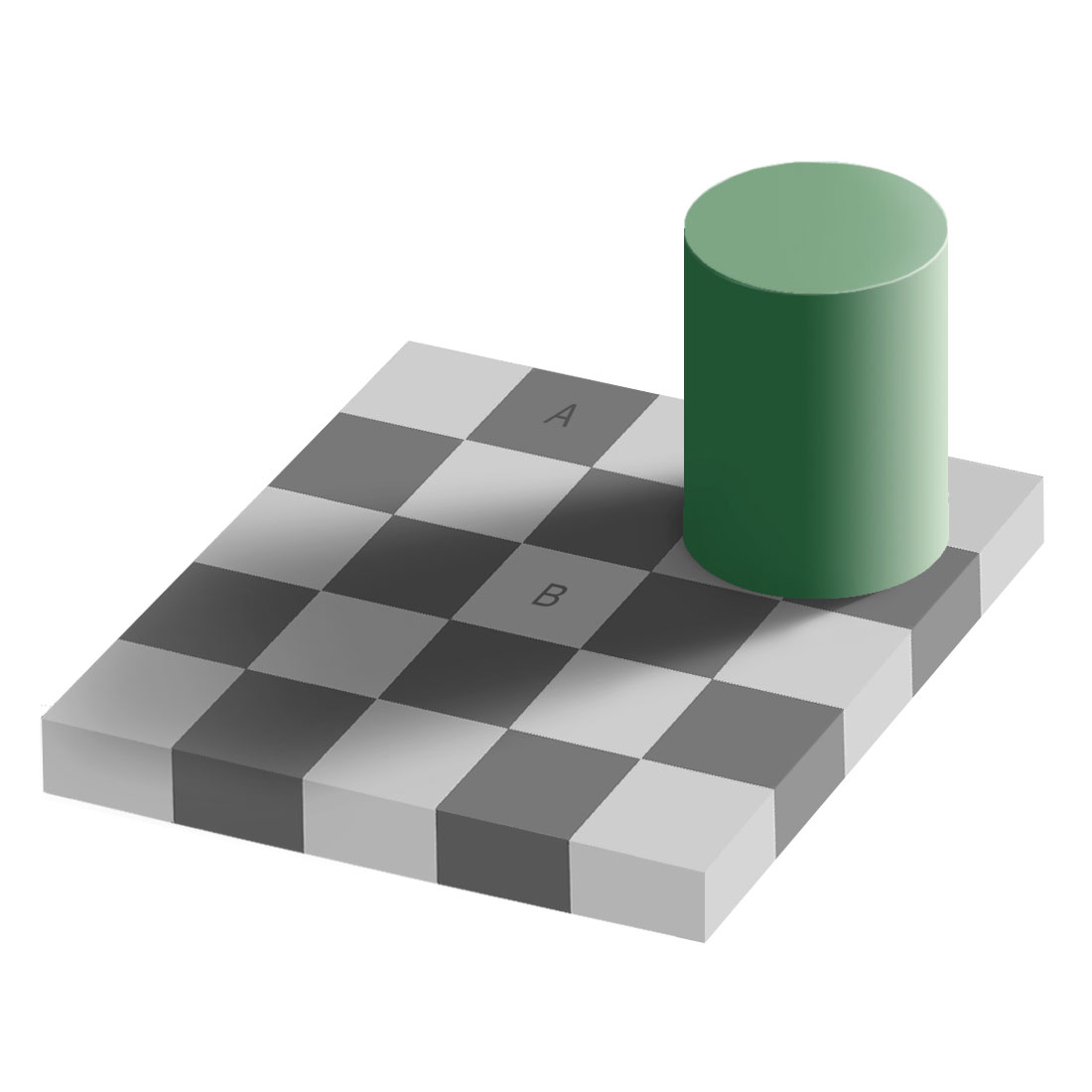 Adelson S Checker Shadow Illusion The